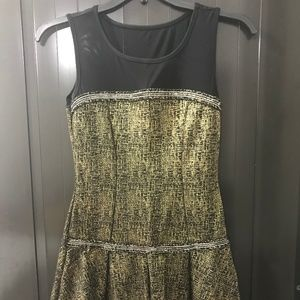 January 7 Black and Gold Dress Size M